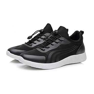 Bărbați Imitație Blană Primăvara & toamnă Confortabili Adidași de Atletism Alergare / Basket Negru / Negru / Alb