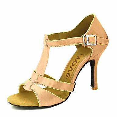a715ef2e3f9 Γυναικεία Παπούτσια χορού λάτιν / Παπούτσια σάλσα Σατέν / Μετάξι Πέδιλα /  Τακούνια Αγκράφα / Κορδέλα Προσαρμοσμένο τακούνι Εξατομικευμένο Παπούτσια  Χορού ...