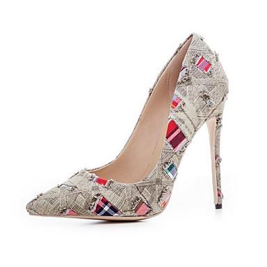 Toile Bout de Talons Eté ouvert Brun Confort claire Talon à Femme 06766426 Aiguille Chaussures Chaussures Bleu Boucle jean PqxnU5S