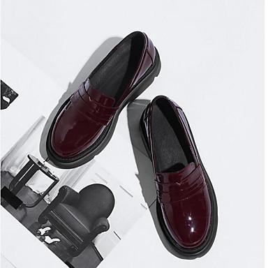 Eté Chaussures Creepers Femme Mocassins Nappa Vin D6148 et fermé Noir Bout 06766443 Cuir Chaussons Confort wpwqtf4