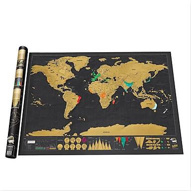șterge Harta mondială negru scratch off harta lumii personalizate de călătorie zgarieturi pentru autocolante perete cameră hartă