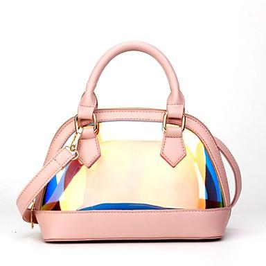 Pentru femei Genți PVC / PU Seturi de sac Set de pungi pentru 2 buc Fermoar Albastru piscină / Roz Îmbujorat