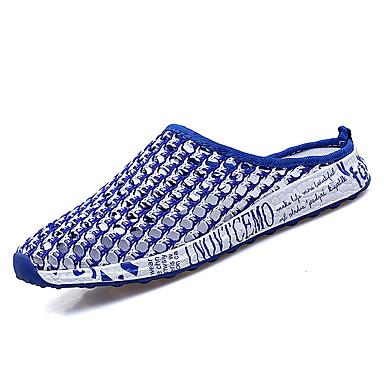 blanco Zapatos Tela Rojo Confort Elástica Tacón y Zuecos pantuflas Azul redondo Dedo PU Negro 06766107 Blanco Verano Mujer Plano ZxEfRxw