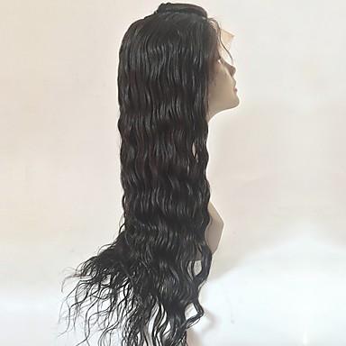 Păr Remy Față din Dantelă Perucă Păr Brazilian Ondulat Perucă Frizură în Straturi 130% Cu părul copiilor / Linia naturală de păr Negru Pentru femei Lung Peruci Păr Uman