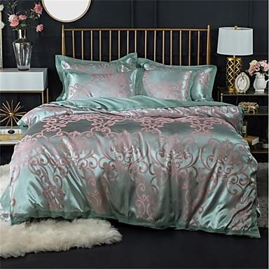 Duvet Cover Sets Luxury 100% Cotton / Silk / Cotton Blend / Cotton Jacquard Printed & Jacquard 4 Piece