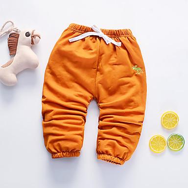 Bebelus Fete Negru & Roșu Mată / Geometric Manșon Lung Pantaloni