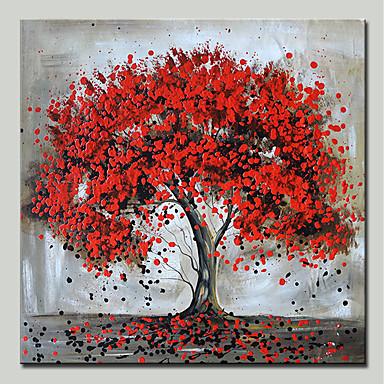 mintura® pictate manual picturile de ulei de arbore rosu pe panza modernă abstract flori de perete de artă imagini pentru decorațiuni interioare gata să atârne