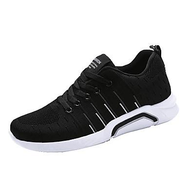 Bărbați PU Primăvara & toamnă Confortabili Adidași de Atletism Alergare Gri / Negru / Alb / Negru / Roșu