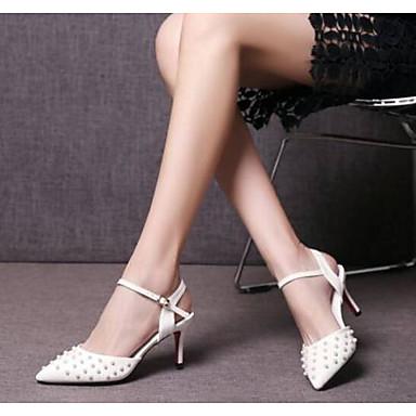 Aiguille Escarpin Basique Talon Blanc Cuir Bleu Eté Faux Confort Chaussures 06770904 Femme Sandales Rouge qXpzwYq