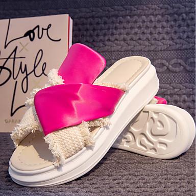 Tongs amp; Chaussons Chaussures Noir Creepers Femme Eté Bout Polyuréthane Confort ouvert Rouge 06764889 gw4FYq