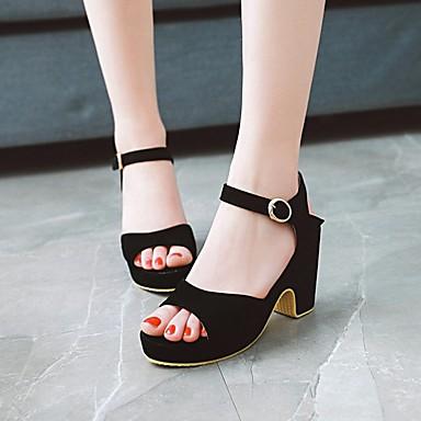 Femme Eté Chaussures Beige Bottier Escarpin Vert Sandales Basique Daim Boucle Talon Bout ouvert 06753820 Jaune rarwxH