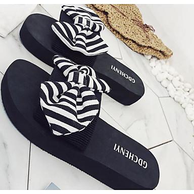plataforma y Zapatillas Verano Rojo Negro Zapatos Ante Talón Confort flip Descubierto 06755155 flops Azul Mujer Media nq0xfPwf