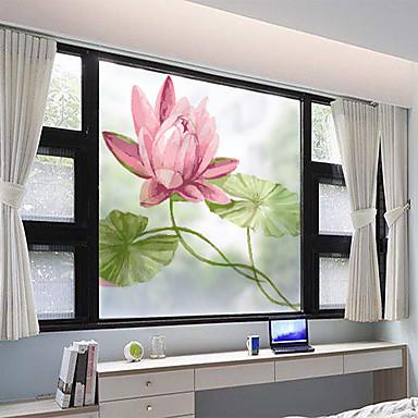 Fereastră de film și autocolante Decor mată / Contemporan Flori PVC Autocolant Geam / Mat
