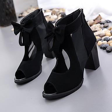 Otoño Tacones Zapatos Básico Ante Tacón Azul Negro Cuadrado 06764624 Confort Pump Mujer dEYwqCHC