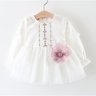 Bebelus Fete Floral Manșon Lung Rochie