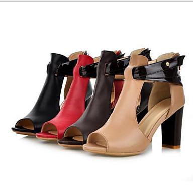 Rouge Basique été Printemps Chaussures Boucle Marron Evénement Bottier Sandales ouvert Escarpin Bout Femme amp; Amande Talon Cuir 06770639 Soirée nwxOEAttX