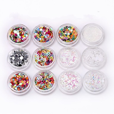 24pcs Sfaturi utile artificiale Unelte pentru unghii Nail Art Kit Design Modern / Creative / 24 culori nail art pedichiura si manichiura Accent / Decorativ / Amestec de culori Zilnic