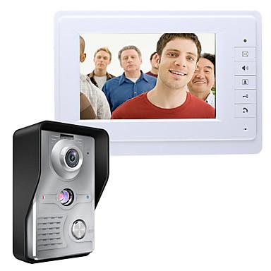 MOUNTAINONE SY819MKW11 7 Inch Video Door Phone 7 inch Mâini-libere 700 TV Line Interfon video 1 la 1