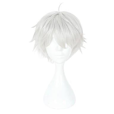 Tokyo Ghoul Ken Kaneki Cosplay Unisex 14 pulgada Fibra resistente al calor Blanco Animé Pelucas de Cosplay