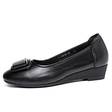 Ballerines Talon Femme Confort Automne Cuir Gris Chaussures Noir 06717277 Bas qqFwBIAx
