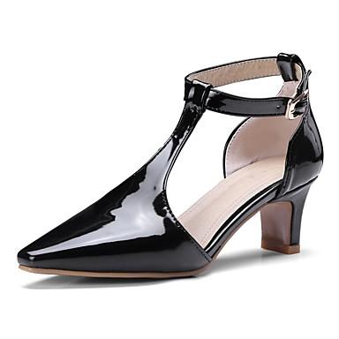 Pentru femei Pantofi PU Primavara vara Balerini Basic Tocuri Toc Mic Vârf ascuțit Auriu / Negru / Argintiu