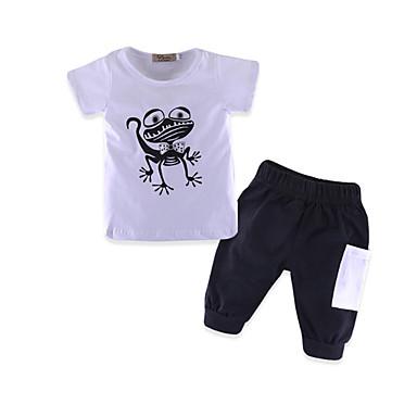 Bebelus Băieți Activ Imprimeu Manșon scurt Lung Bumbac Set Îmbrăcăminte