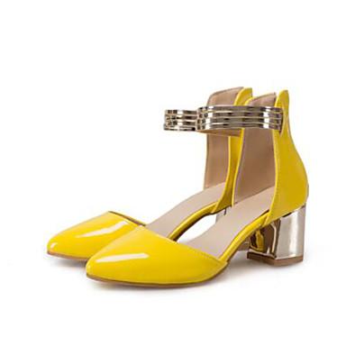 Chaussures Femme Fuchsia Printemps pointu Bottier Verni Rose Talon Bout à Basique Cuir Jaune Talons 06733337 Escarpin Chaussures dgrgFq