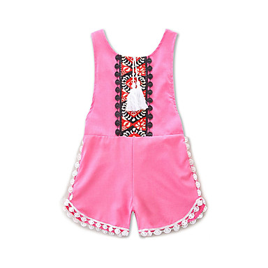 513ee872087 Baby Girls  Boho   Chinoiserie Daily   Holiday Geometric   Jacquard  Embroidered Sleeveless Spandex Romper