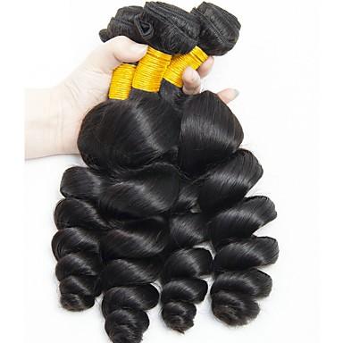 4 pachete Păr Indian Ondulat 8A Păr Natural Umane tesaturi de par Extensii din Păr Natural 8-28 inch Culoare naturală Umane Țesăturile de par Fără calotă Cea mai buna calitate O noua sosire pentru