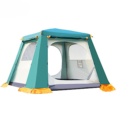 3 person Family Tent Double Layered Automatic Instant Cabin Camping Tent Outdoor Keep Warm, Dust Proof for Camping / Hiking Other Material 200*200*145 cm
