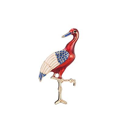 Pentru femei Sculptură Broșe - Stilat, Clasic Broșă Roșu Închis Flamingo Pentru Zilnic