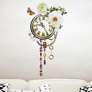 Autocolante de Perete Decorative - Autocolante perete plane Floral / Botanic Sufragerie / Dormitor / Baie