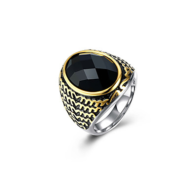 1pc Rich Long Cool Crn / Muškarci / Band Ring / Prsten Izjave / Titanium Steel