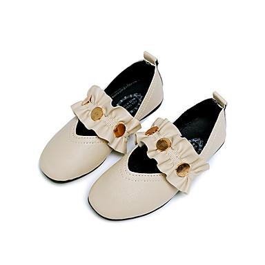 Djevojčice Cipele PU Proljeće ljeto Udobne cipele / Obuća za male djeveruše Ravne cipele Hodanje za Tinejdžer Crn / Bež / Pink