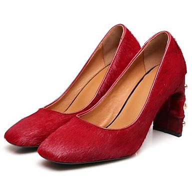 Chaussures Printemps Cheval Femme Talons Aiguille à Confort Talon Rouge 06840748 Noir de Chaussures Crin BrYWxSnYa