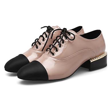Oxfords Chaussures Automne Femme Noir Amande Bottier Confort 06778587 Verni Talon Cuir Printemps 7YxIIqwUd