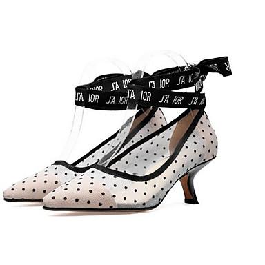 Confort Blanc Chaussures Talons 06838054 Maille Aiguille Chaussures Eté à Femme Talon ztdgqwd