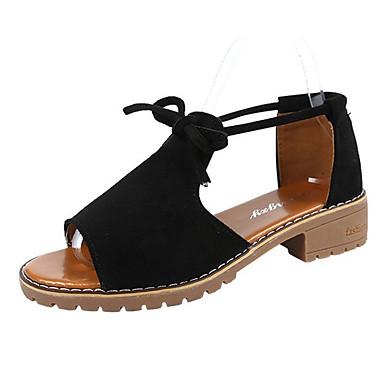 PU 06780759 Beige Verano redondo Negro Mujer Tacón Sandalias Dedo Confort Zapatos Rosa Cuadrado 5qvw7RgSx