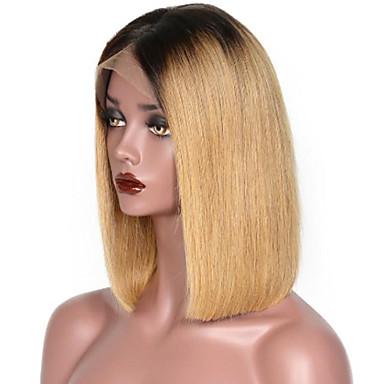Remy Human Hair Lace Front Wig Bob Short Bob Style Brazilian Hair