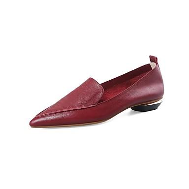 Noir Printemps Cuir Vin Confort Talon été Plat Ballerines Nappa Femme 06818739 Chaussures zwtx6H
