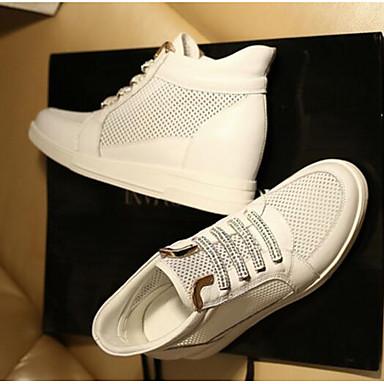 Argent Talon Eté Basket Chaussures Printemps Or fermé Confort Cuir qppwaxCf7