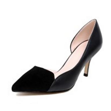 Printemps Noir à Chaussures Talon Aiguille Gris Basique Chaussures Talons Automne 06817283 Confort Cuir Femme foncé Escarpin Nappa OxFwftzxq