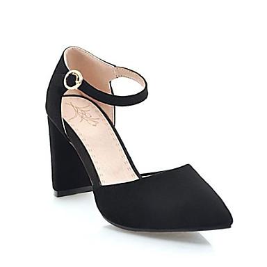 Noir Boucle Talons Confort Bout Beige à Bottier Chaussures Microfibre Rose Femme Printemps Chaussures pointu Talon 06785646 été 7qwBASO0