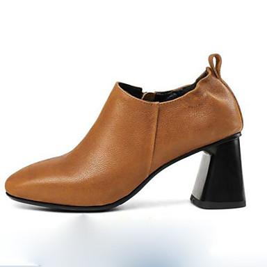carré Chaussures Marron à Chaussures Confort amp; Soirée Noir Talon rrUgHq