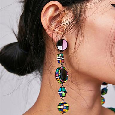 voordelige Oorbellen-Dames Lang Druppel oorbellen oorbellen Gezegend Dames Vintage Bohémien Koreaans Sieraden Blauw / Roze / zwart / wit Voor Feest / Uitgaan Formeel 1 paar