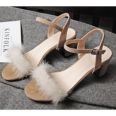 Femme Basique Talon Chaussures mouton Sandales Eté Noir Escarpin de 06791277 Bottier Peau Confort Amande r4awHqrx