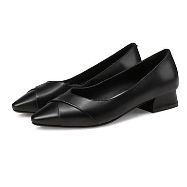 Noir Escarpin Beige Block 06811128 Chaussures Femme Cuir Confort à Talons Basique Automne Printemps Heel Chaussures Nappa 6WZ6TY