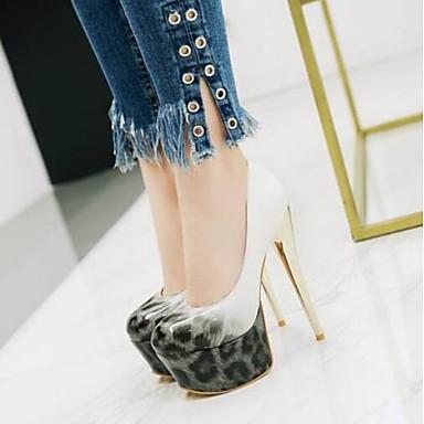 Chaussures 06775095 Talon à Aiguille Jaune Talons Chaussures Femme Polyuréthane Bleu Printemps Confort Noir SqRgaw
