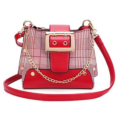 Žene Torbe PU Torba za rame Patent-zatvarač Red / Blushing Pink / Žutomrk