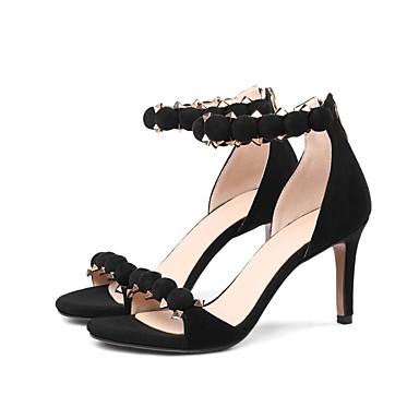 Talons 06832747 été Chaussures Noir Chaussures Aiguille Daim Femme Confort Printemps Vin à Talon tqw70w4